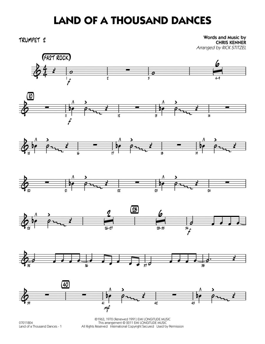 Land Of A Thousand Dances - Trumpet 2