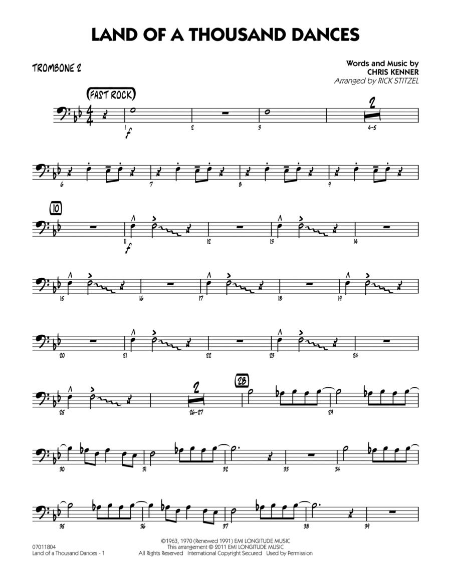 Land Of A Thousand Dances - Trombone 2