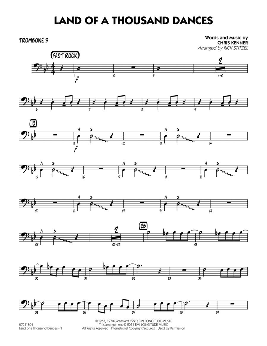 Land Of A Thousand Dances - Trombone 3