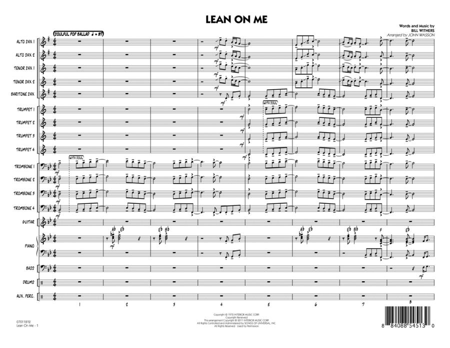 Lean On Me - Full Score