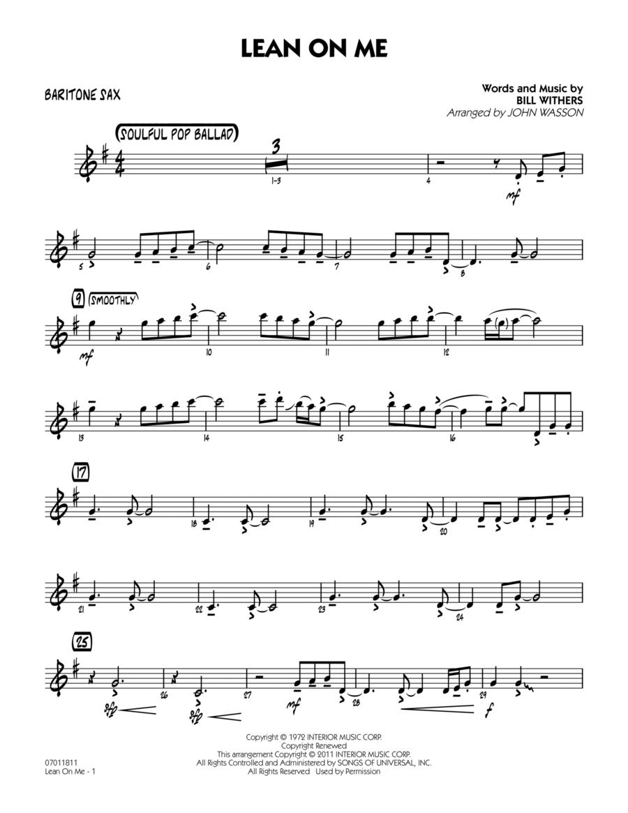 Lean On Me - Baritone Sax