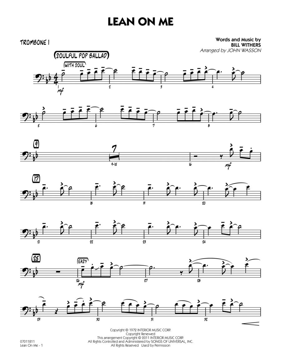 Lean On Me - Trombone 1