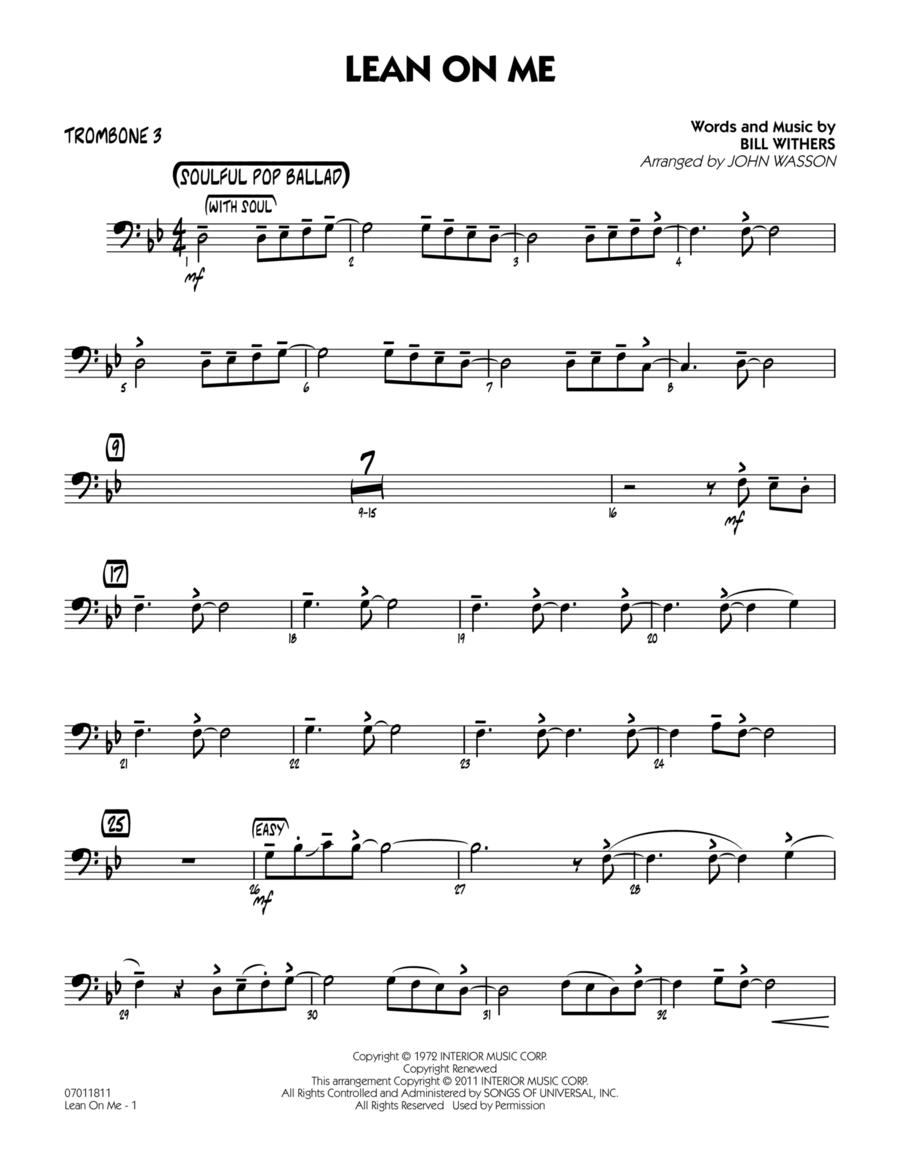 Lean On Me - Trombone 3