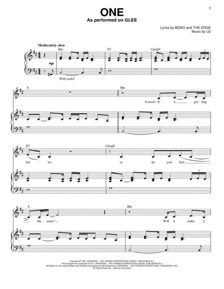One (Vocal Duet)