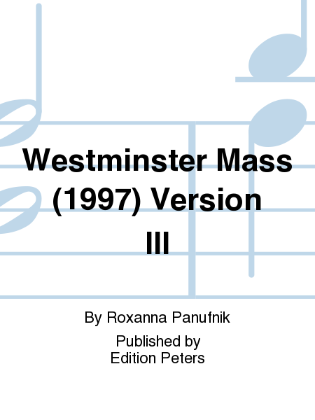 Westminster Mass (1997) Version III