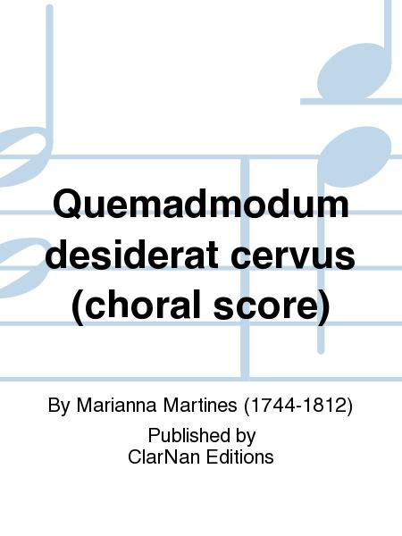 Quemadmodum desiderat cervus (choral score)