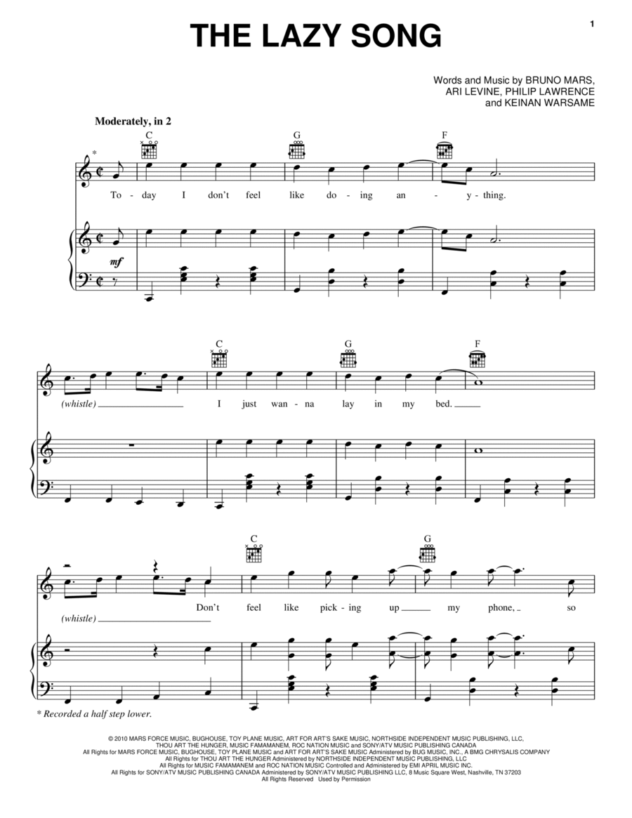 [the lazy song ukulele pinterest] ukulele ukulele chords lazy song easy ukulele chords and ...