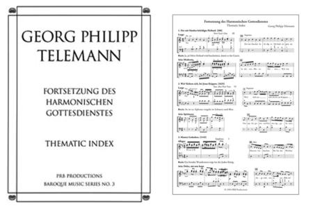 Fortsetzung des Harmonischen Gottesdienstes, Thematic Index
