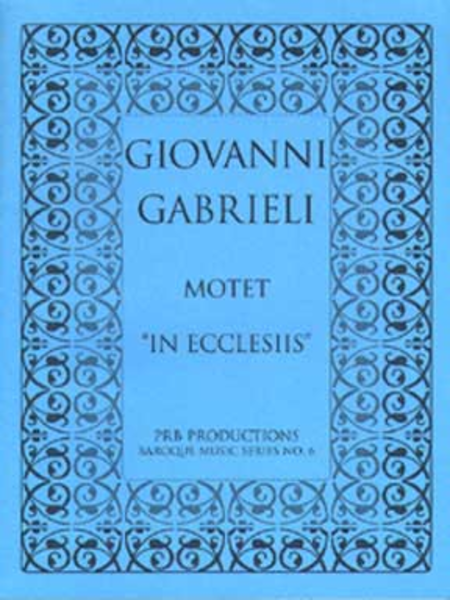 Motet, 'In ecclesiis' (score)