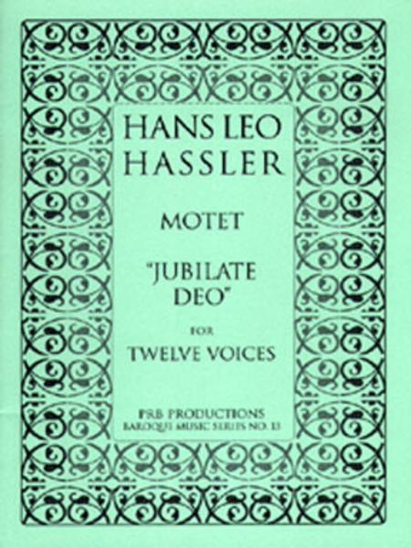 Motet, 'Jubilate Deo' (score)