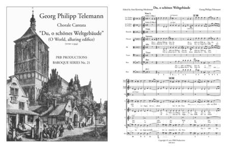 Cantata, 'Du, o schones Weltgebaude' (score and part set)
