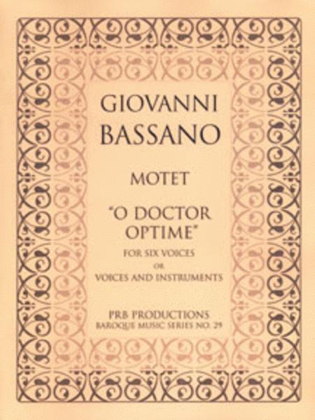 Motet, 'O doctor optime' (score)
