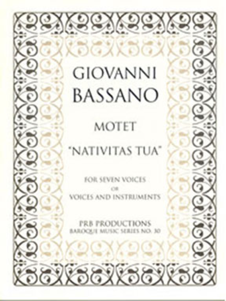 Motet, 'Nativitas tua' (score and part set)