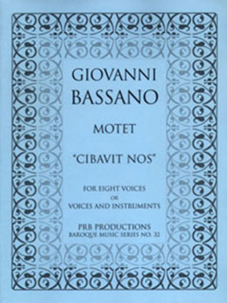 Motet, 'Cibavit nos' (score and part set)