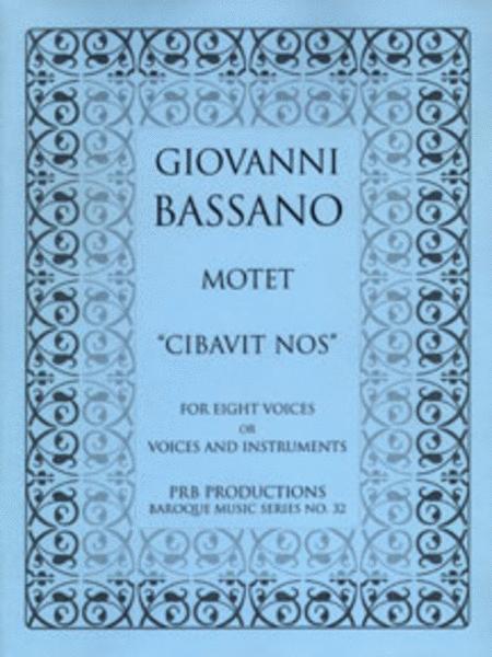 Motet, 'Cibavit nos' (score)