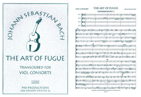 The Art of Fugue (score and part set)
