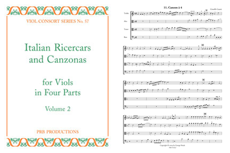 Italian Ricercars & Canzonas a4, Volume 2 (score and 6 part set)