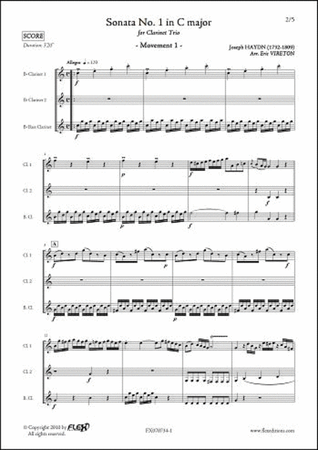 Sonata No. 1 in C Major - Mvt. 1