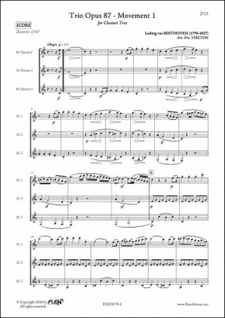 Trio Opus 87 - Mvt. 1
