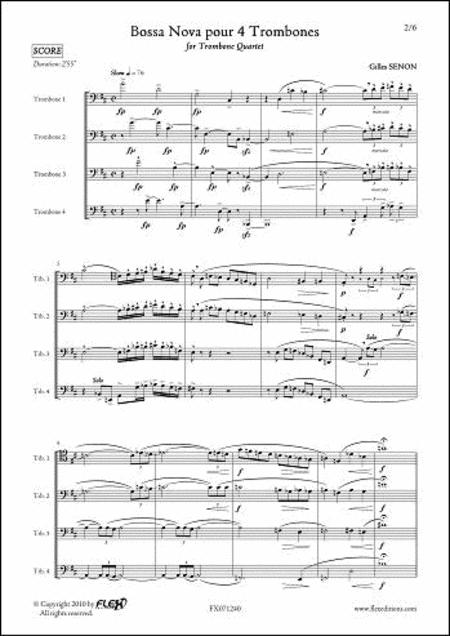 Bossa Nova pour 4 Trombones