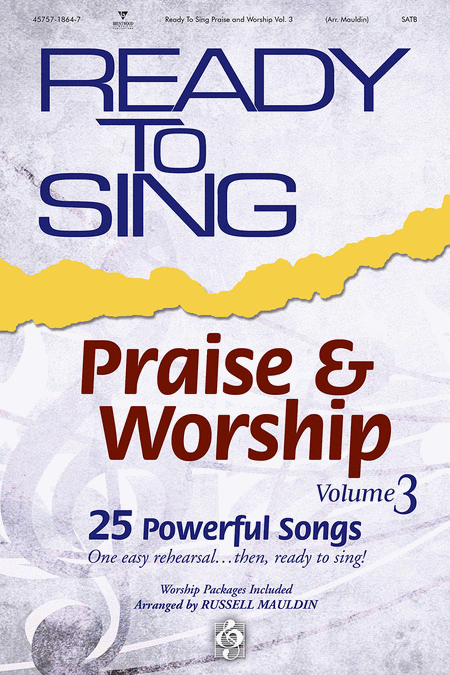 Ready To Sing Praise and Worship, Volume 3 (Split Track Accompaniment CD)