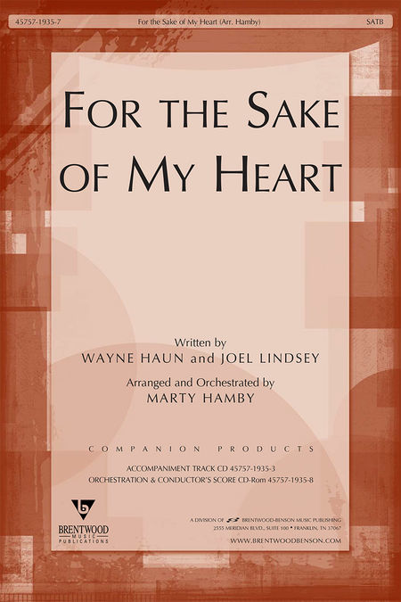 For The Sake Of My Heart (Orchestra Parts and Conductor's Score, CD-ROM)