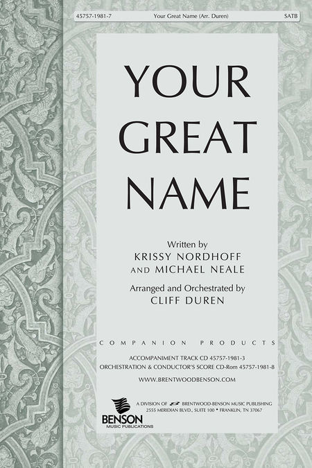 Your Great Name (Split Track Accompaniment CD)