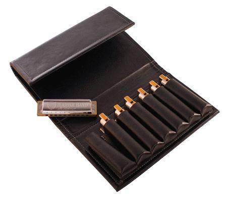 Hohner Leather Gig Case - 7 Harps