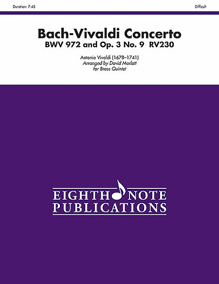 Bach-Vivaldi Concerto, BWV 972 and Op. 3, No. 9, RV230