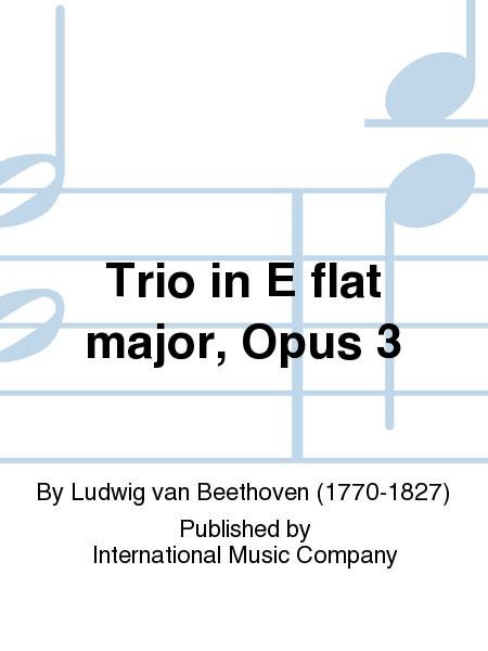 Trio in E flat major, Opus 3