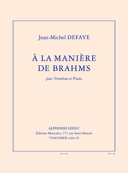 A La Maniere de Brahms - Trombone et Piano