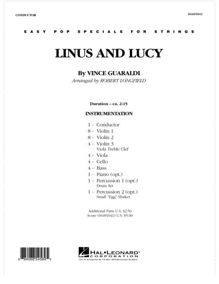 Linus And Lucy - Full Score