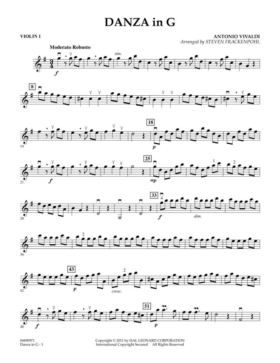Danza In G - Violin 1