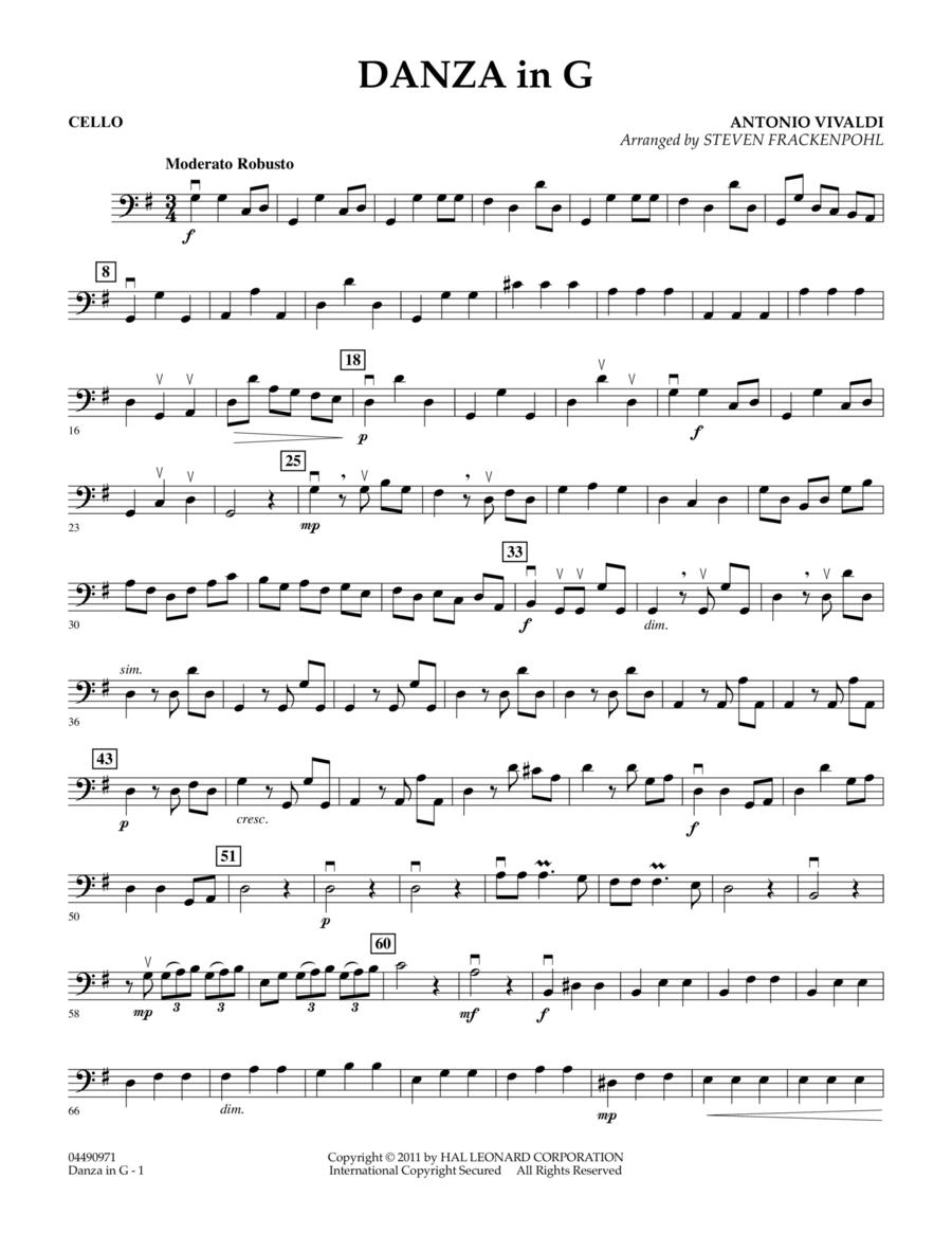 Danza In G - Cello