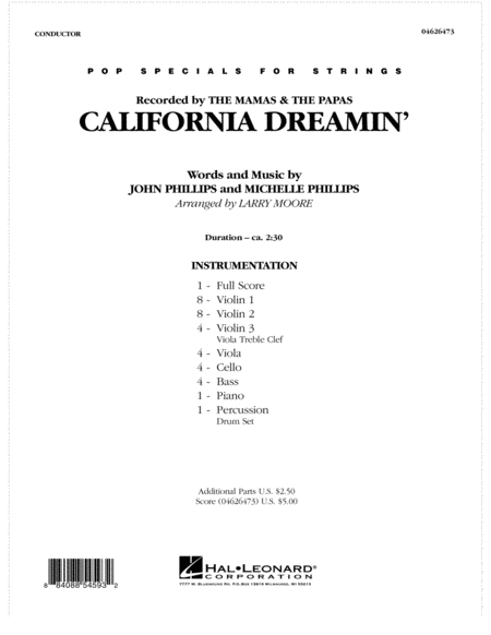 California Dreamin' - Full Score
