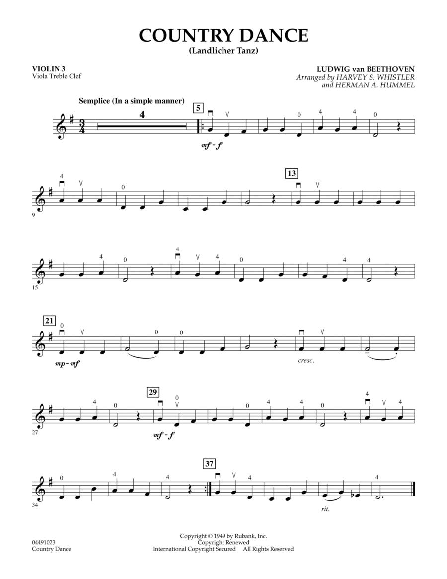 Country Dance (Landlicher Tanz) - Violin 3 (Viola Treble Clef)