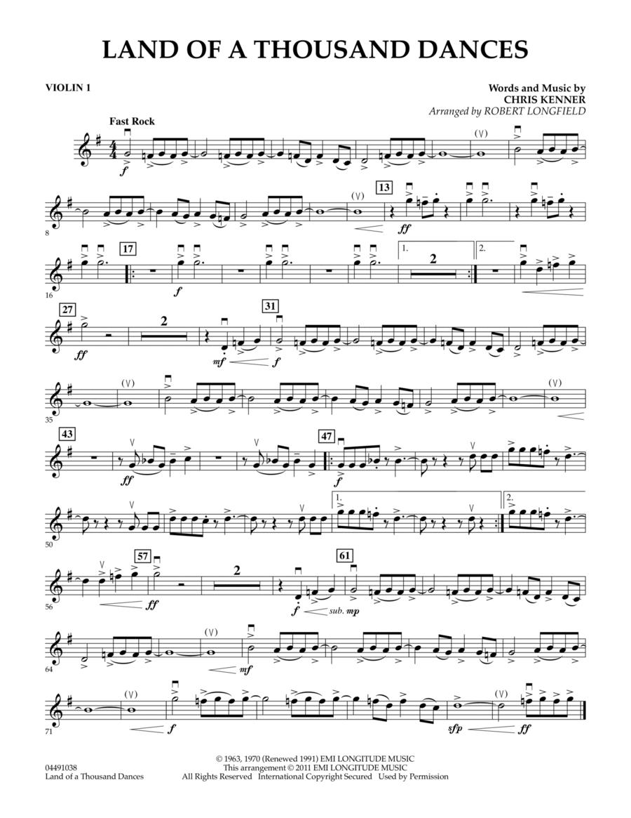 Land Of A Thousand Dances - Violin 1