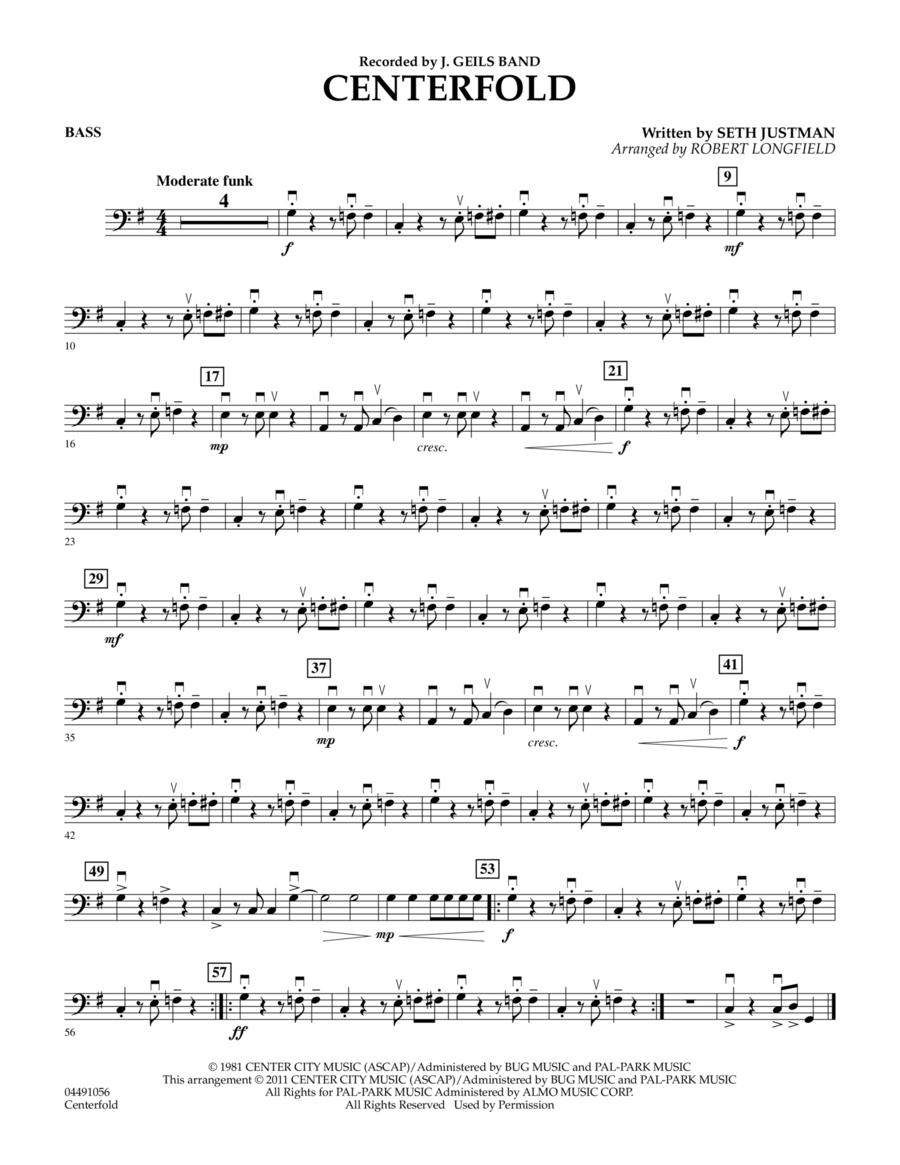 Centerfold - Bass