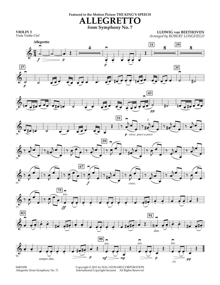 Allegretto (from Symphony No. 7) - Violin 3 (Viola Treble Clef)