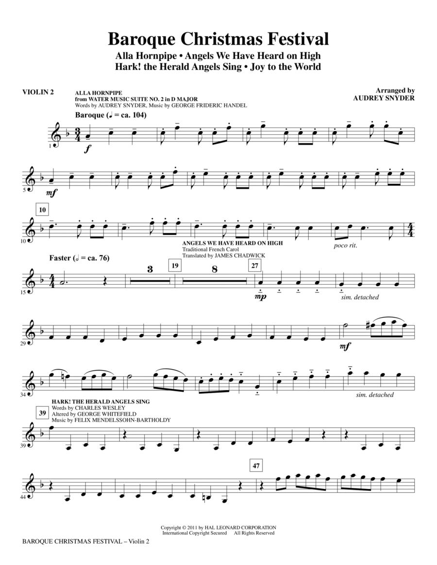 Baroque Christmas Festival (Medley) - Violin 2