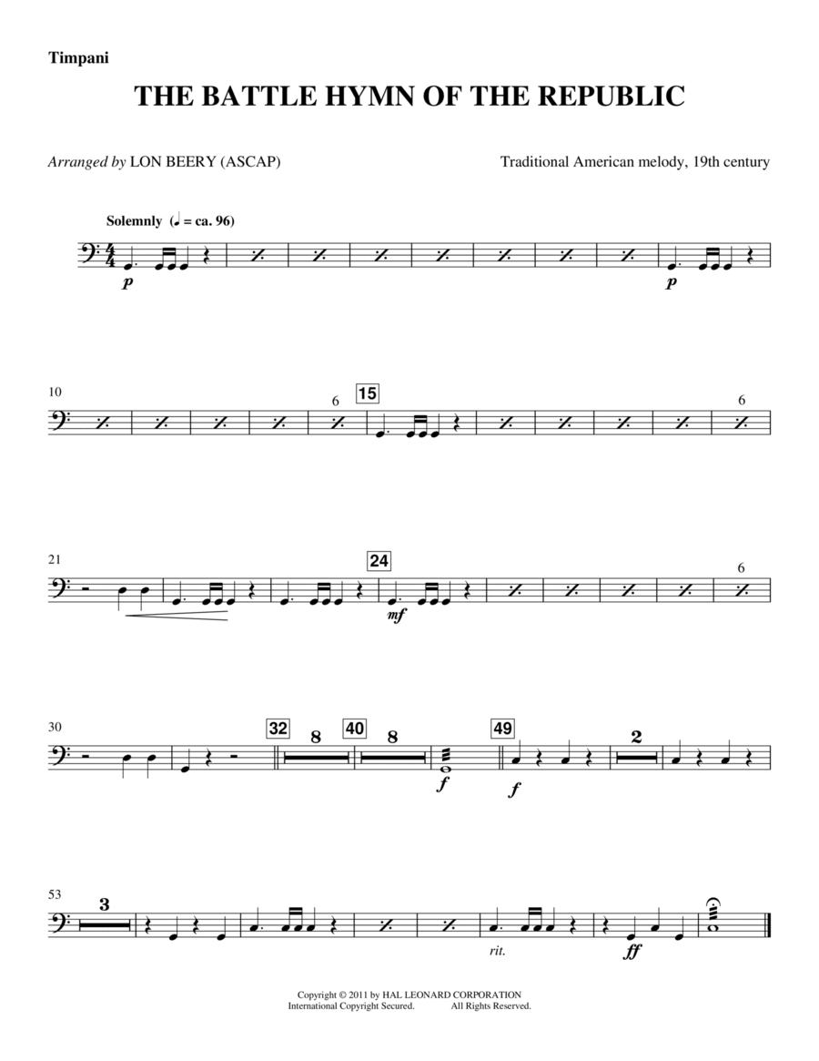 Battle Hymn Of The Republic - Timpani