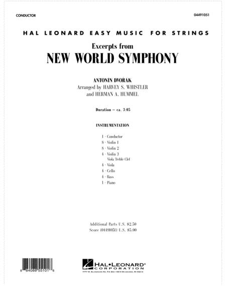 Excerpts from New World Symphony - Full Score
