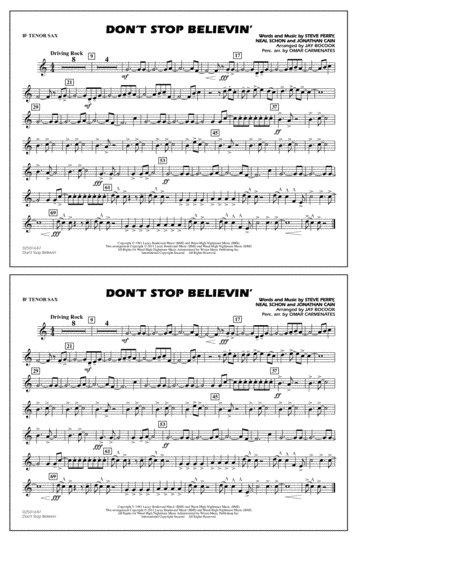 Don't Stop Believin' - Bb Tenor Sax