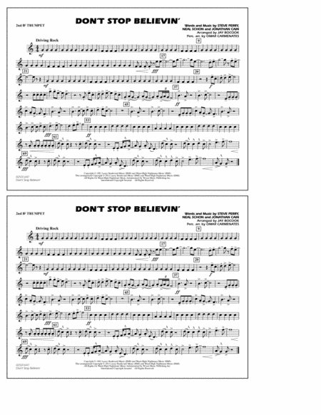 Don't Stop Believin' - 2nd Bb Trumpet