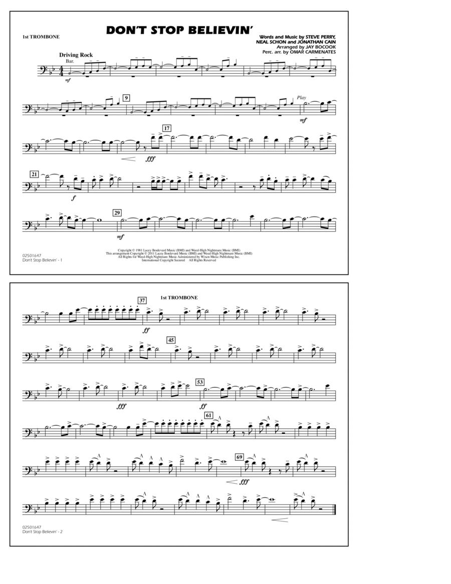 Don't Stop Believin' - 1st Trombone