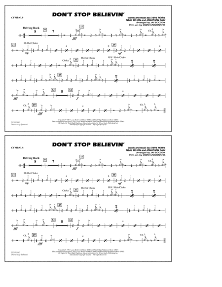 Don't Stop Believin' - Cymbals