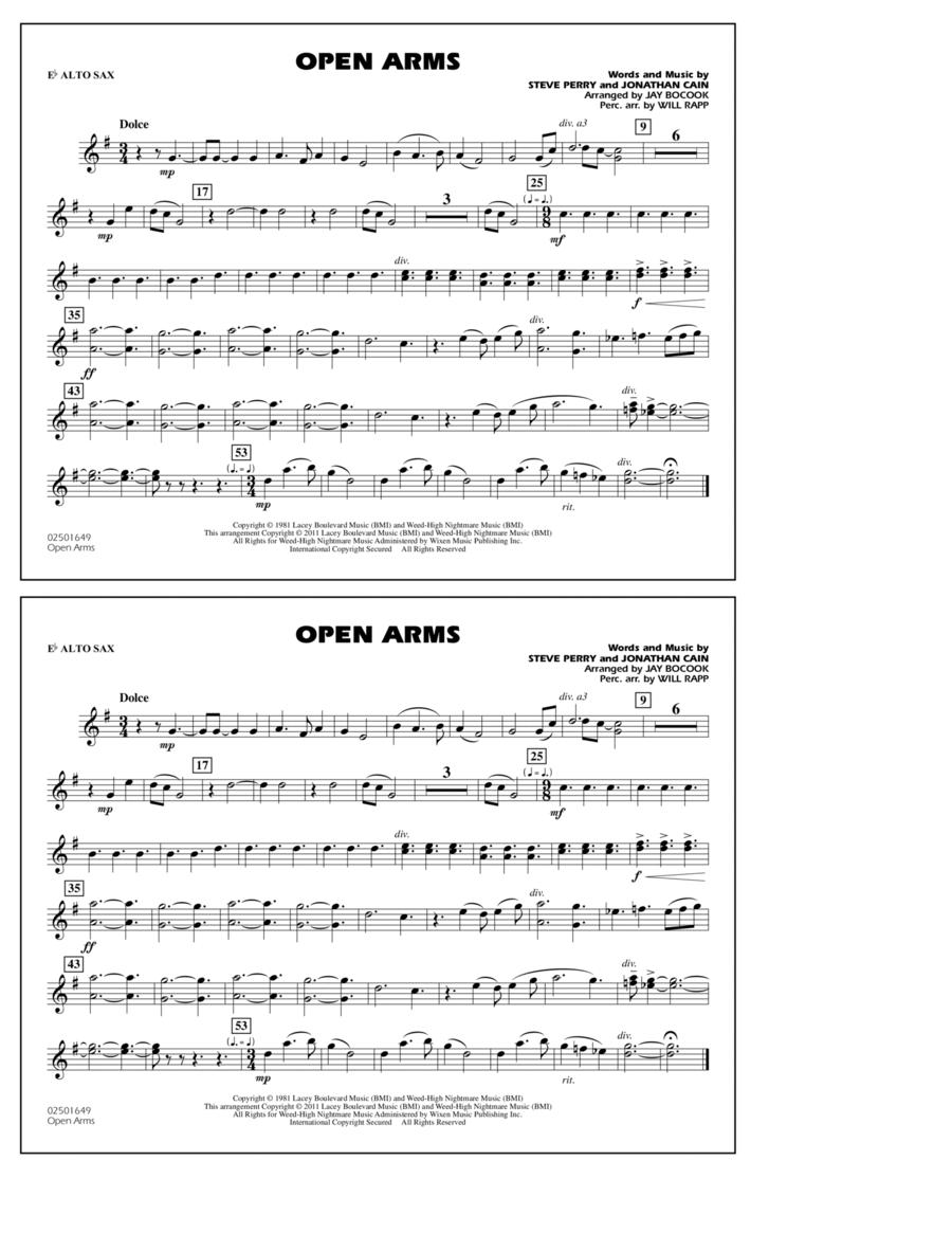 Open Arms - Eb Alto Sax