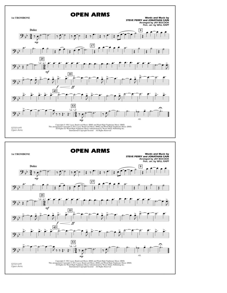 Open Arms - 1st Trombone