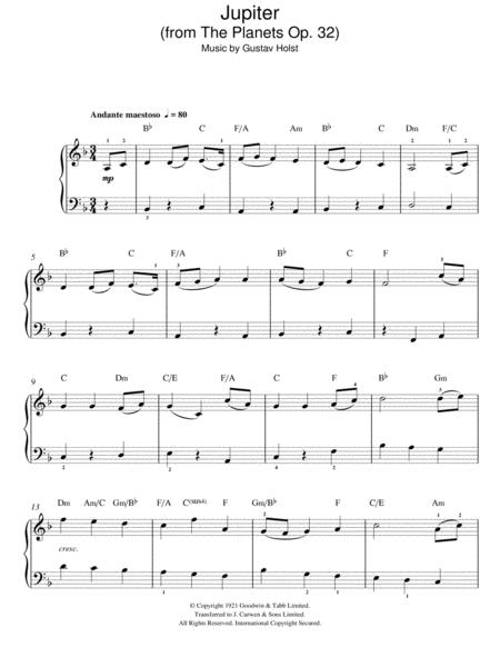 Jupiter violin sheet music pdf