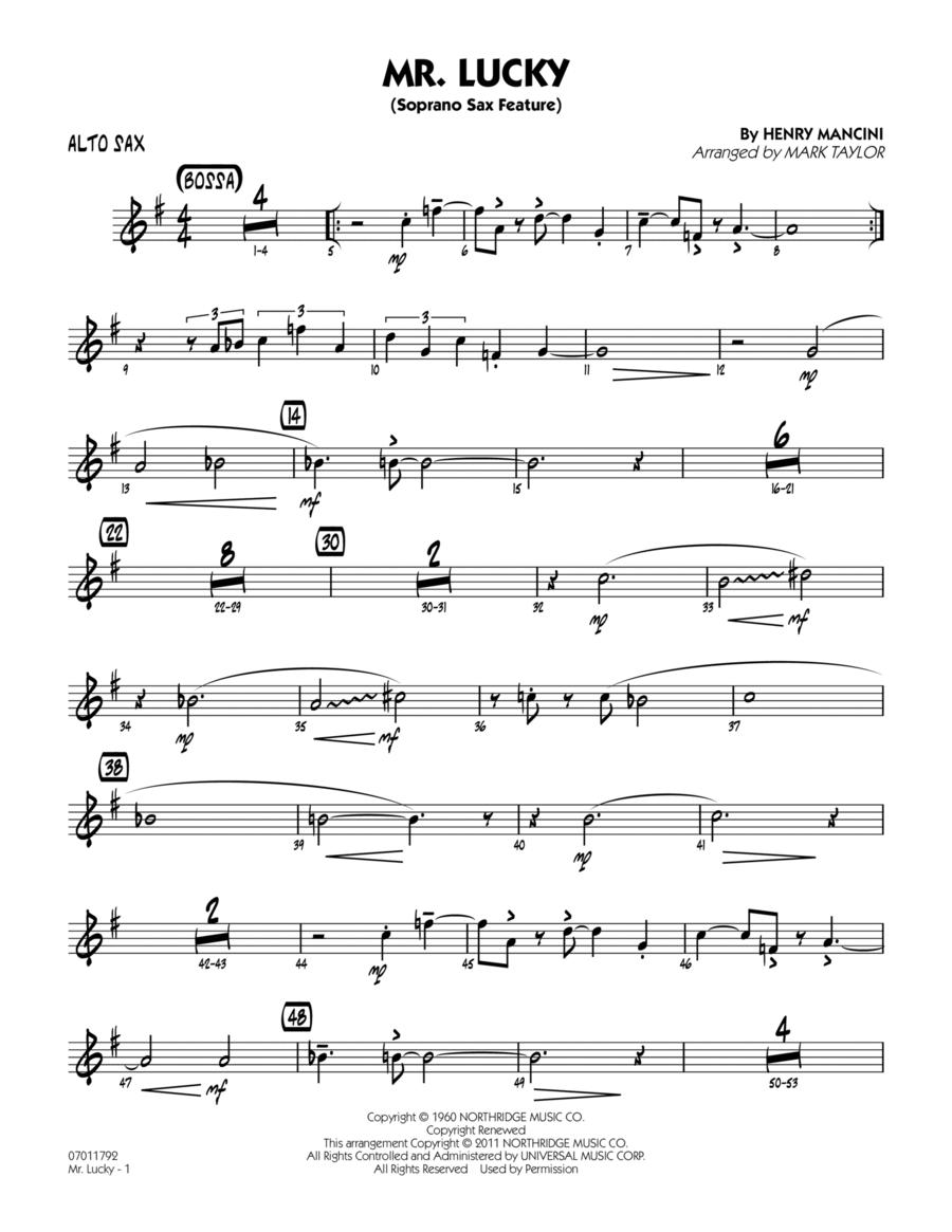 Mr. Lucky (Soprano Sax Feature) - Alto Sax
